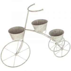 "Vélo Porte Plante ""Garden"" 71cm Gris Prix"