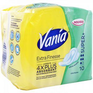 Vania Extra-finesse - 10 serviettes hygiéniques Super +