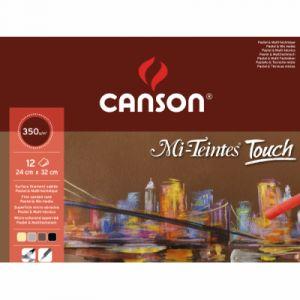 Canson Papier Mi-teintes touch 12 feuilles 24 x32 cm