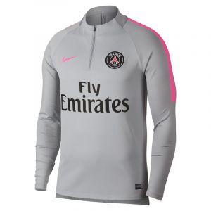 Nike Haut de football à manches longues Paris Saint-Germain Dri-FIT Squad Drill pour Homme - Gris - Taille S