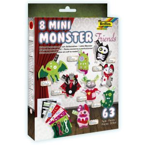 Folia Set de bricolage en feutre Mini Monster Friends