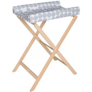Geuther Table à langer pliable trixi naturelle pois gris