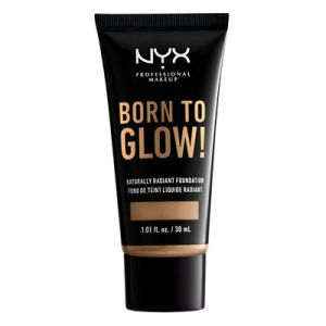 NYX Cosmetics Born To Glow Naturally Radiant Fondation Fond de Teint Fluide - Caramel - Transparent