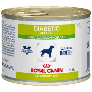 Royal Canin Boîtes Veterinary Diet Chien Diabetic Special Low Carbohydrate Contenance : 12 boites de 410 g