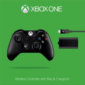 Microsoft Manette sans fil + Kit de chargement Play & Charge pour Xbox One