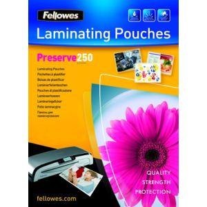Fellowes 100 pochettes de plastification à chaud format A4 (250 µ)