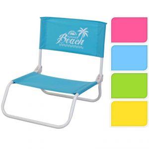 Chaise de plage pliante (45 x 40 x 18/50 cm)