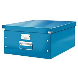 Leitz 6045-00-36 - Boîte de rangement Click & Store, format A3, en PP, coloris bleu métallique