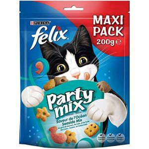 Felix Party mix - Friandises saveur océan - pour chat - 200g - Friandises saveur ocean - 200g - pour chat