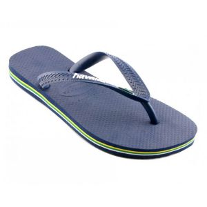 Havaianas Brasil Logo, Tongs Mixte Adulte, Bleu (Navy Blue 0555), 45/46 EU (43/44 Brazilian)