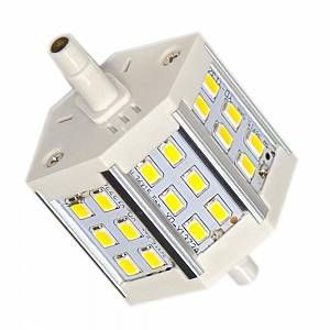 Silamp Ampoule LED R7S 78mm 6W 220V SMD5730 18LED 200 - couleur eclairage : Blanc Chaud 2300K - 3500K