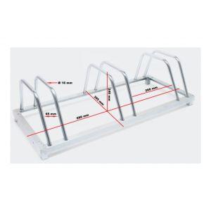 Système range vélo râtelier inclinable 3 vélos acier galvanisé garage pratique au sol ou mural