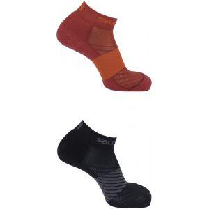 Salomon XA - Chaussettes course à pied - 2 Pack rouge/noir EU 45-47 Chaussettes Running