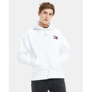 Tommy Jeans Sweat à capuche Badge Blanc - Taille L;M;S;XL;XS