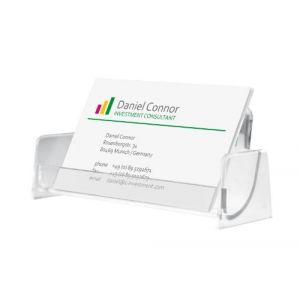 Sigel VA120 Présentoir de carte de visite, pour 50 cartes format 9,7 x 8,5 cm, transparent