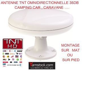 Antarion Antenne TNT 35DB camping-car omnidirectionnelle