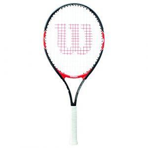 Wilson Raquette de Tennis pour Enfants Roger Federer 21 Taille 5-6 Ans Rouge/Noir WRT200600
