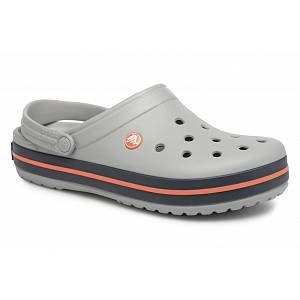 Crocs Crocband,Sabots Mixte Adulte, Gris (Light Grey/Navy), 48-49 EU