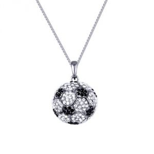 Blue Pearls Wcf 001 - Collier ballon de football aux 300 Cristaux Swarovski Elements