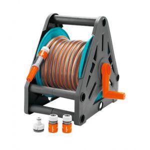 Gardena Devidoir portable équipé - avec tuyau de 15 m de tuyau + lance + accessoires