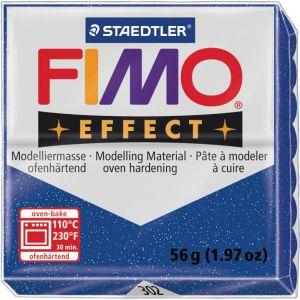 Fimo Effect Bleu Pailleté - 56 g