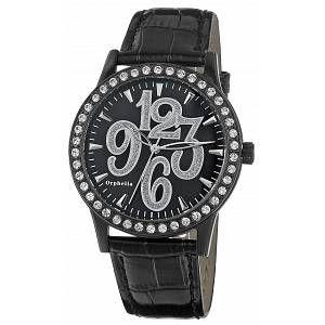 Orphelia OR22170844 - Montre Femme - Quartz Analogique - Cadran Noir - Bracelet Cuir Noir