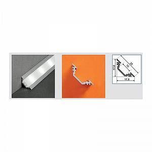 Vision-El Profilé aluminium anodisé LED ANGLE 45° 1000 mm pour bandeau LED
