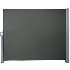 Auvent store latéral brise-vue abri paravent soleil aluminium rétractable hauteur 180 cm longueur 300 cm gris