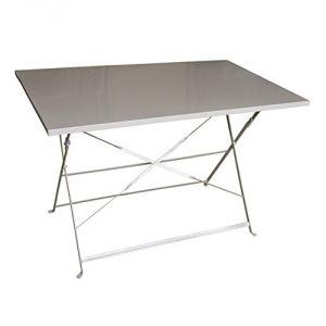 Hesperide Camargue - Table de jardin rectangulaire en métal 110 x 70 cm