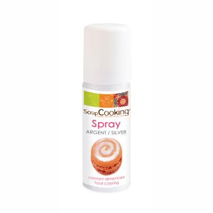 Scrapcooking Colorant alimentaire en spray - 50 ml - argent