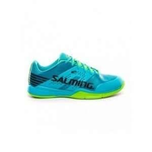 Salming Viper 5 Indoor Shoes - Men - Blue Atol / New Neon Green - 48
