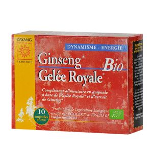 Dayang Complexe ginseng, gelée royale - 10 ampoules