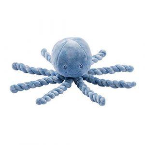 Nattou Peluche pieuvre Lapidou bleu (23 cm)