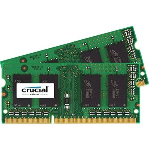 Crucial CT2KIT102464BF160B - Barrettes mémoire 2 x 8 Go DDR3 1600 MHz 204 broches