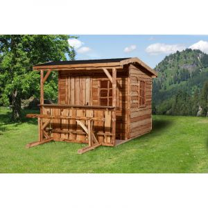 Weka Cabane de jardin bois 16mm 7,03 m2 RANCH