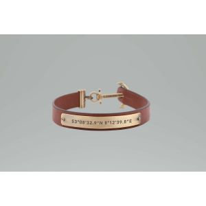 Paul Hewitt Bracelet Bijoux PH-MSC-M-BR - Bracelet Cuir Marron Mixte