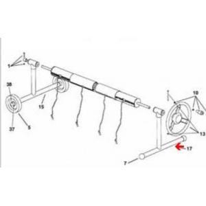 Procopi 1862009 - Pied de rechange côté fixe pour enrouleur de bâche de piscine Aquaroll