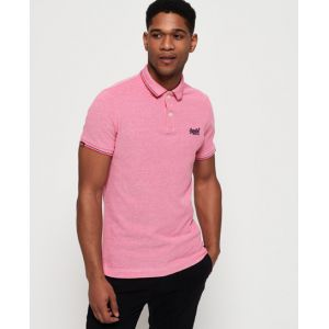 Superdry Classic Poolside Pique Polo, Multicolore (Coral/White S2v), Small Homme