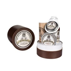 Mr Bear Family Woodland ! - Coffret cadeau avec huile de soin, shampooing et baume hydratant pour la barbe + cire moustache