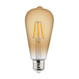 Horoz Electric Ampoule LED à filament Vintage poire 6W (Eq. 48W) E27 2200K