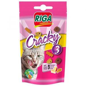 Riga Friandise Cracky 3 fromages pour chat (Lot de 7)