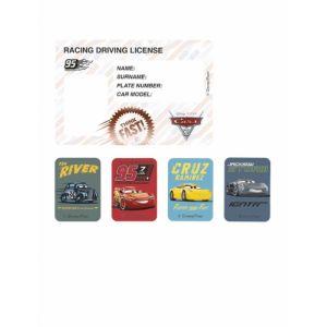 Procos 4 Cartons d'invitation et stickers Cars 3 Taille Unique