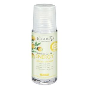 Logona Déodorant roll-on Energy Citron gingembre 50ml