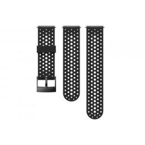 Suunto Bracelet en silicone 24 mm Athletic 1 Noir/Noir Taille S+M