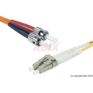 Abix 391050 - Câble jarretiere fibre optique ST vers LC multimode 50/125 3 m