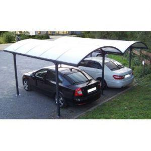 Habrita CAR 6048 ALRP - Carport double aluminium toit 1/2 rond
