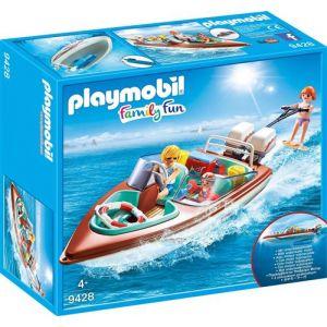 Playmobil 9428 Family Fun - Vacanciers avec vedette moteur sub