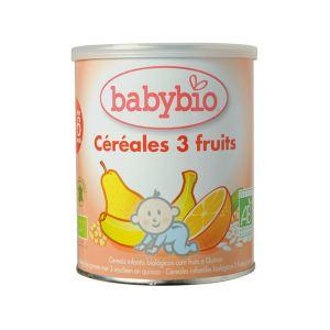 BabyBio Céréales 3 Fruits 220g - dès 6 mois