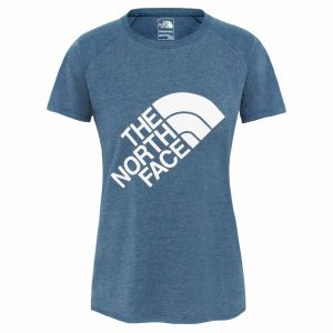 The North Face T-shirts Graphic Play Hard S/s Eu - Blue Wing Teal Heather - Taille XS