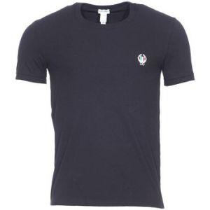 Dolce & Gabbana Tee shirt col rond en coton stretch noir
